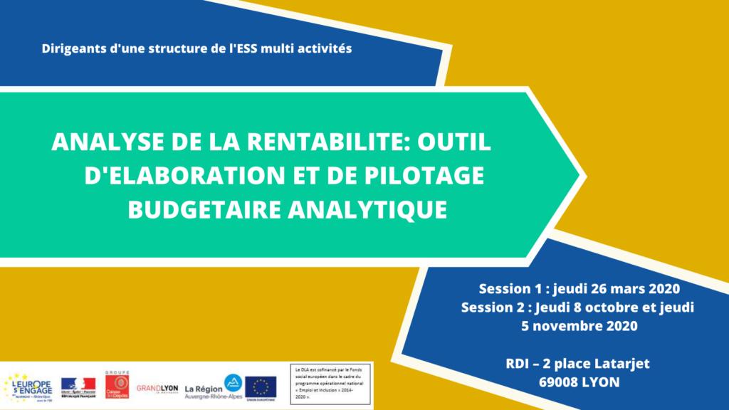 Atelier DLA - Analyse de la rentabilité : Outil d'élaboration et de pilotage budgétaire analytique